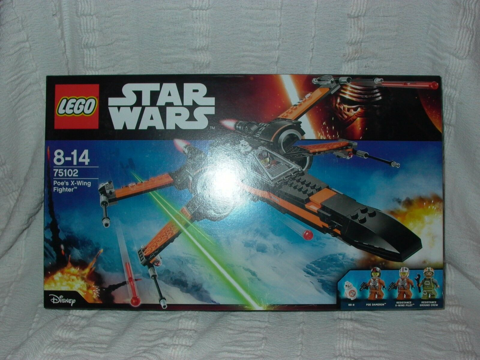 Lego 75102 Star Wars Ep7 Force Awakens Poe's X-wing Fighter 717pcs unopened new