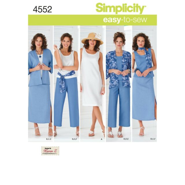 Simplicity Sewing Pattern 4552-AA - Misses Easy to Sew Sportswear Sizes 10 - 18