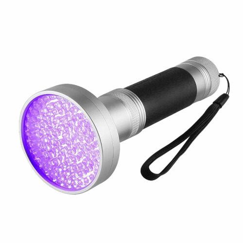 Aluminum Alloy 100 LED Flashlight UV Light Purple Waterproof Handheld New RI