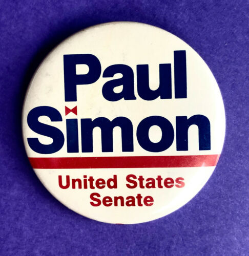 Senate w// Bow Tie Dotting /'I/' Details about  /Vintage 1984 Paul Simon from Illinois for U.S