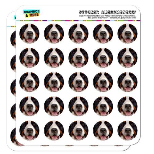 Bernese Mountain Dog Face Closeup Planner Calendar Scrapbooking Stickers