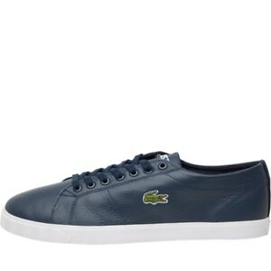 adda88b3a72 Image is loading Lacoste-Mens-Riberac-Leather-Trainers-Navy-Blue