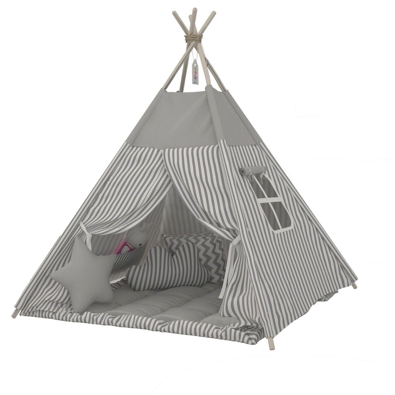 Elfique New Tenda Tenda con Coperta Accessori a Scelta gris Righe