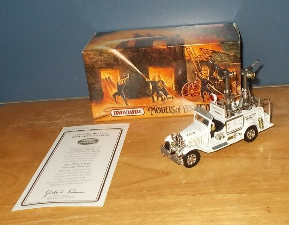 MATCHBOX YESTERYEAR Fire série YYM37634 Ford Model AA Haute Pression Camion
