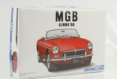 ROSSA MIB Japan Mk-I Aoshima Kit di Montaggio 1:24 MGB MG MG-B 1967 MODEL