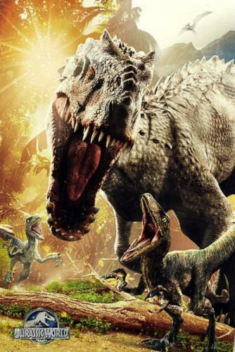 Maxi Poster 61cm x 91.5cm new and sealed Jurassic World Attack