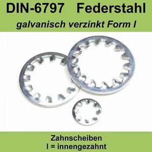 20,0 DIN 6797 Zahnscheiben verzinkte Form A außengezahnte AZ Federstahl f M20