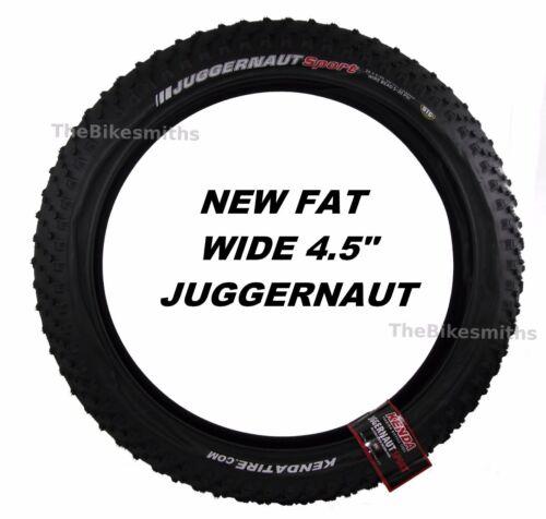 """Kenda Juggernaut Sport DTC 26x 4.5/"""" WIDE K1151 Fat Bike Tire Wire Bead MTB"""