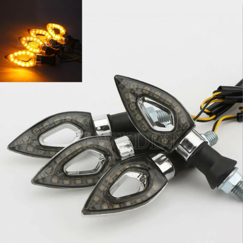 4x Motorcycle LED Turn Signals Light For Triumph Speedmaster Bonneville Thruxton