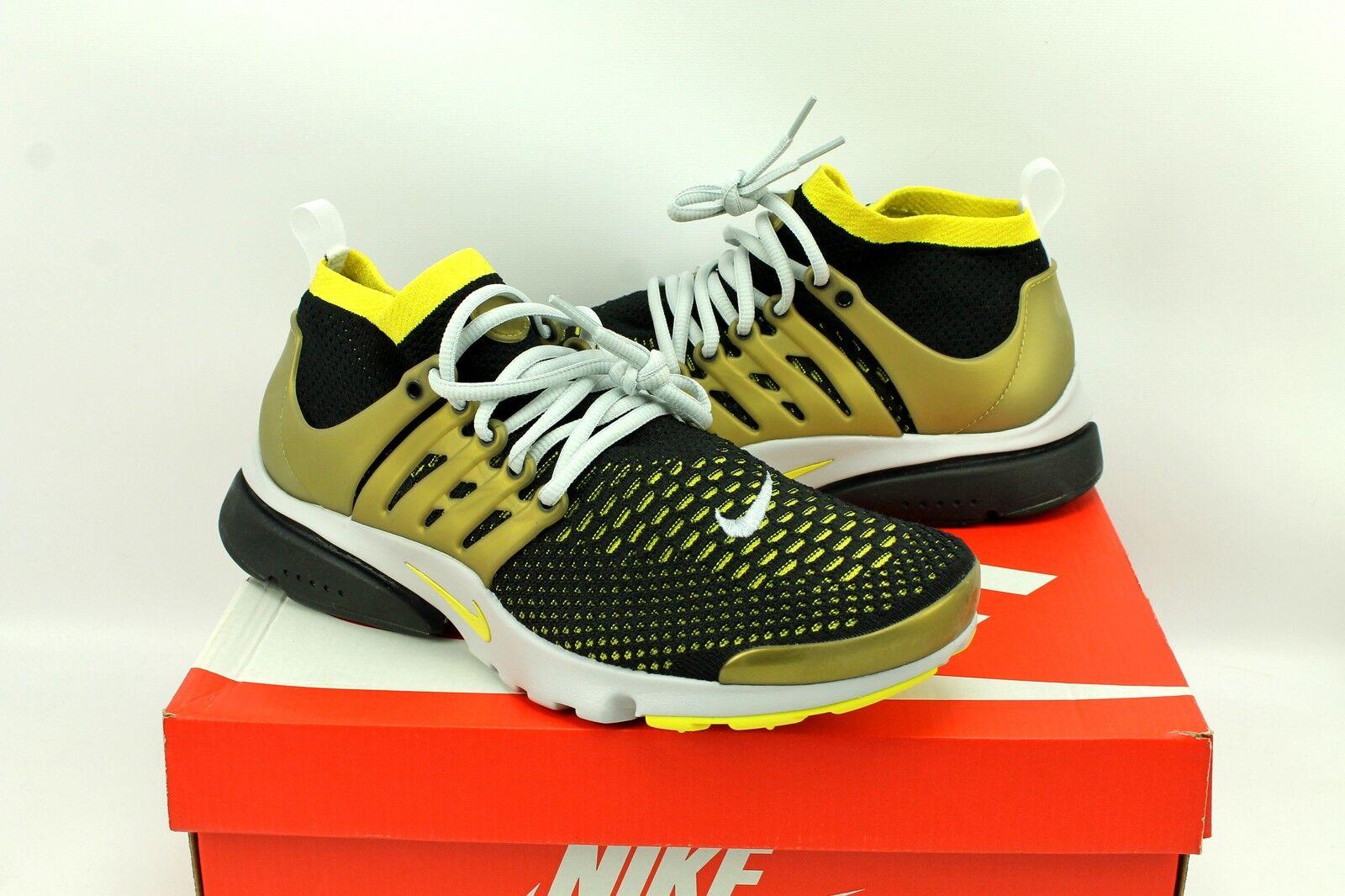 Nike Air Presto Flyknit Flyknit Flyknit Ultra nero oro Running scarpe 835570-007 Uomo 10.5 732561