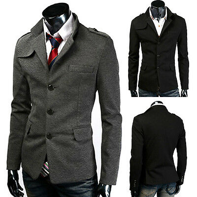 Herren Business Jacke Parka Woll Mantel Caban Wintermantel Kurzmantel Parka Tops