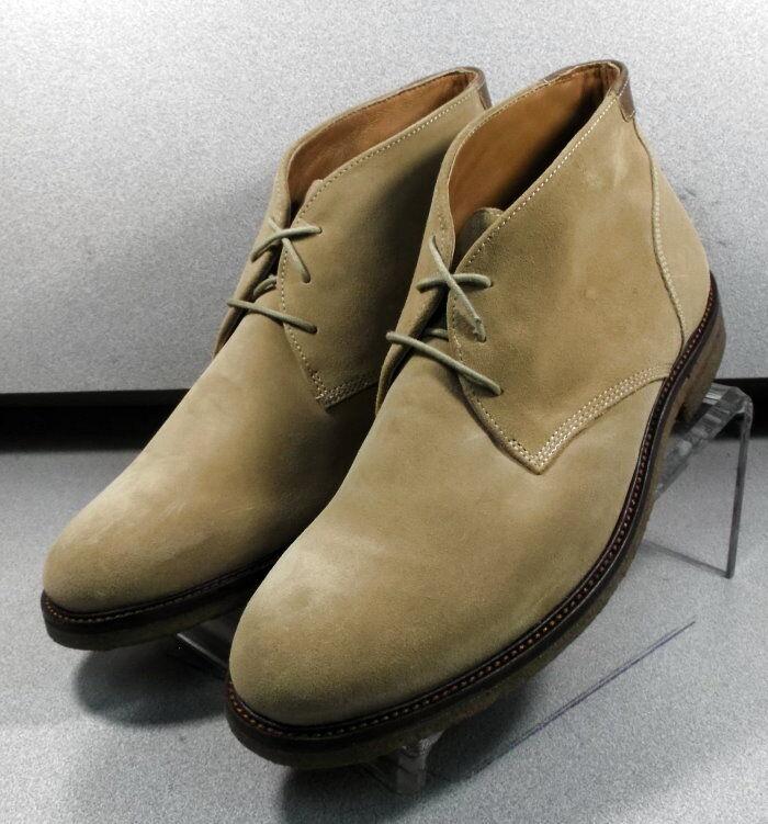 252336 MSBT50 Men's Shoes Size 10.5 M Tan Suede Lace Up Boots Johnston & Murphy