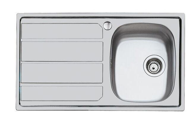 FOSTER lavello da incasso SERIE 1000 1 vasca + gocciolatoio a sinistra