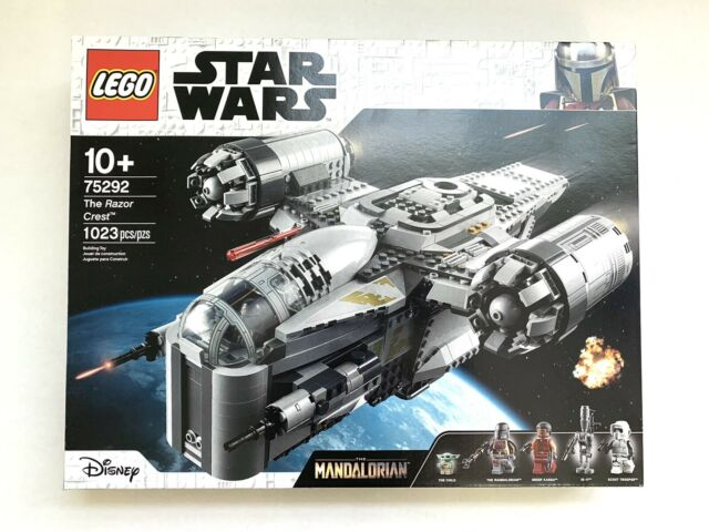 NEW SEALED LEGO Star Wars Mandalorian Razor Crest 75292 Exclusive BABY YODA