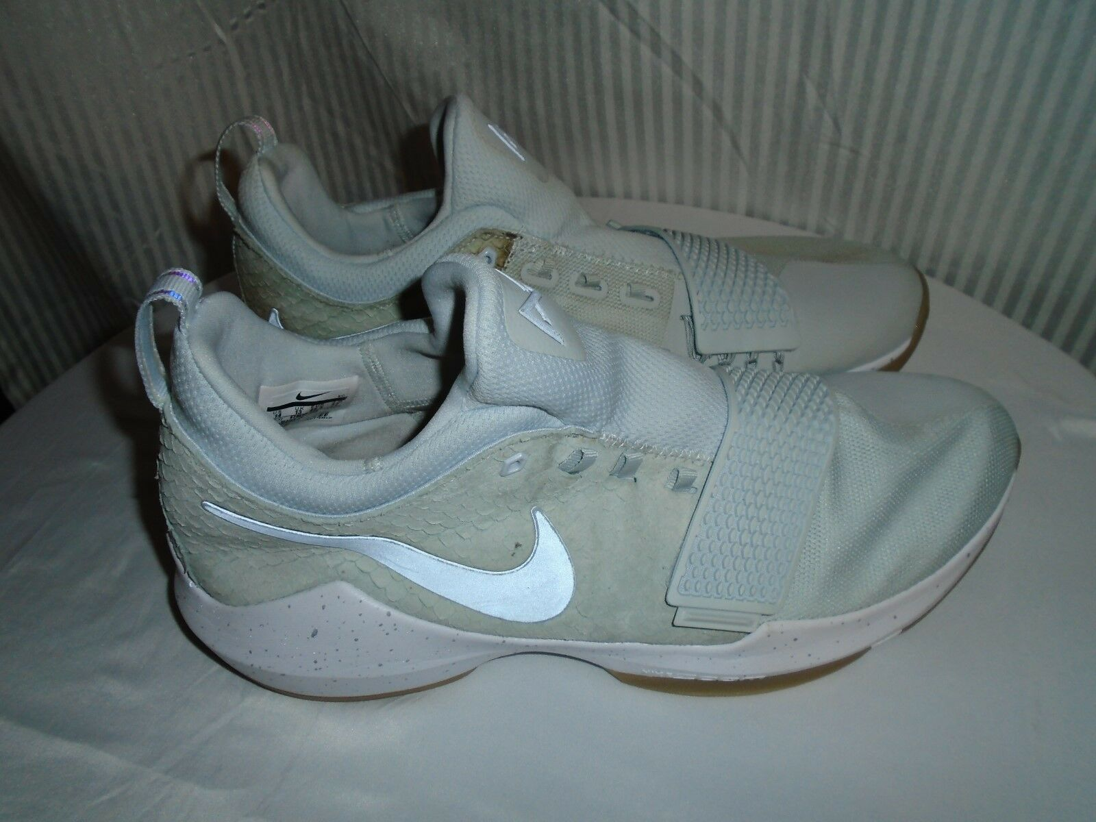 "Nike PG 1 "" Pure Platinum "" Wolf Grey 878627 008 Basketball Paul George Price reduction Brand discount"