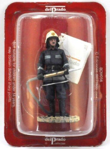 """VIGILE DEL FUOCO FIGURINA Pompiere Sarajevo 2003 in metallo DEL PRADO 1//32 2.75/"""""""