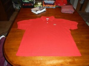 d5cb57516 Image is loading vintage-lacoste-red-polo-shirt-mens-size-6-
