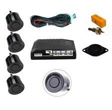 Black 4 Point Rear Reverse Parking Sensor Kit with Speaker Universal - Mazda 2 3