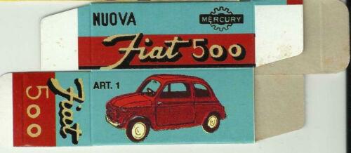 MERCURY 1//48 Scatola replica Mercury// Mercury Replica box FIAT 500 0042c