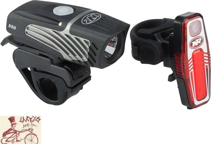 NITERIDER LUMINA MICRO 550 AND SABRE 80 BICYCLE HEADLIGHT AND TAILIGHT SET