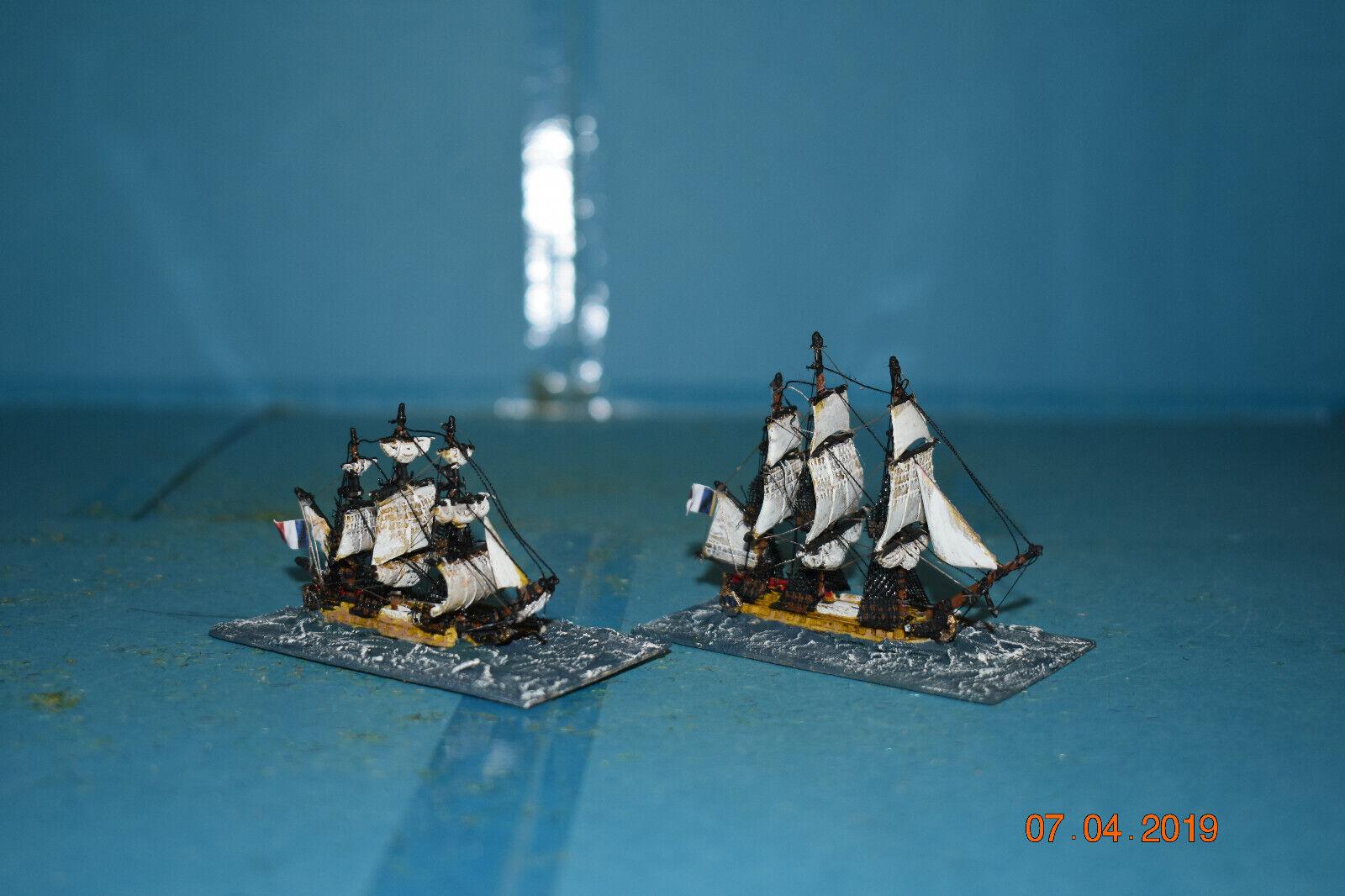 Escala 1200th se envía Napoleónico francés fragatas Pistola de 2 X 34