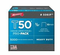 Arrow 506ip Genuine T50 3/8-inch Staples, 5,000-pack, New, Free Shipping on sale