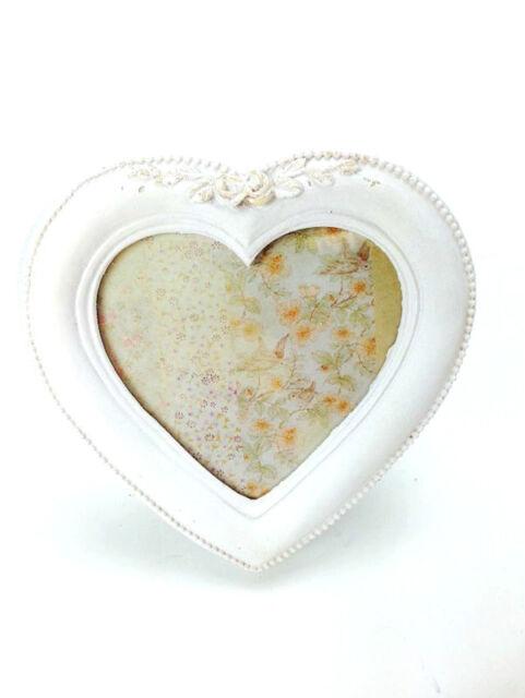 Sass & Belle Shabby Chic Vintage Ornate White Wooden Heart Photo ...