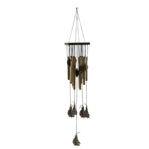 Large Muti-Tubes Windchime Chapel Bell Metal Wood Wind Chimes Door Hanging Decor