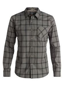 Quiksilver Home Stretch Long Sleeve Shirts Sz Medium AQMWT03244