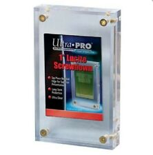 "Ultra Pro 1"" Inch Lucite Brick 4-Screw Card Holder Acrylic Display Slab"