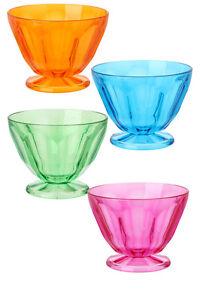Plastique Pièce Pique-nique Bols, Coloré Camping Dessert Crème Glacée Set Of 4 3yxveqzc-08010359-371954948