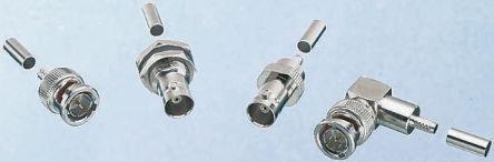 1 X Cable RS Pro ángulo Recto 75Ω montaje enchufe BNC Conector de BT2003 Crimp
