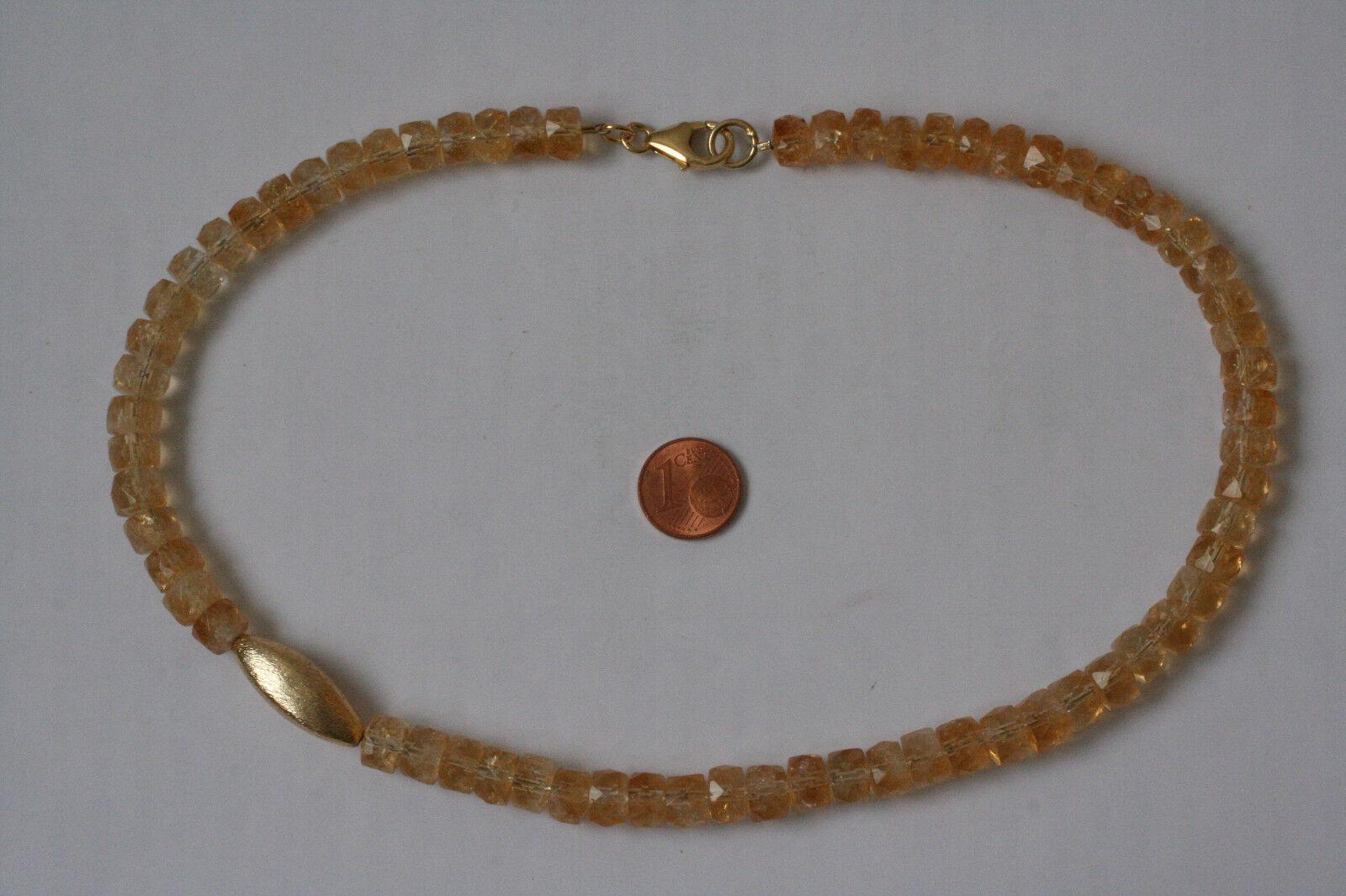 Citrin-Kette(Rondell, fac.8,8x6-7 mm.L=46cm) L-0130 L