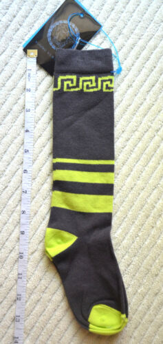 3T-4T NWT Authentic Young Versace Toddler Boy Knee High Socks Green or Grey