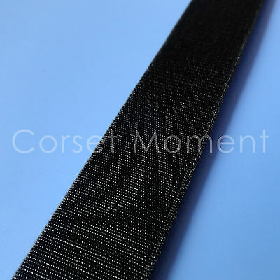 Lingerie Strap Sewing Elastic Corset Suspender Belt Supplies Black 20mm Wide