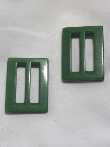 1950s GREEN BAKELITE BELT BUCKLES   - image 1
