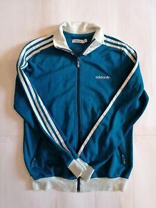 Dettagli su Adidas Felpa Tuta Jacket Vintage stile Anni 70 cotone Taglia SM 40