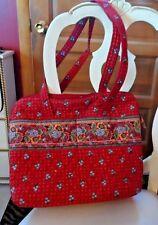 Vera Bradley large diaper bag travel tote in retired Provincial Red Pattern