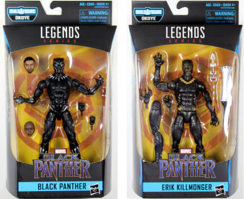 Marvel Legends ~ BLACK PANTHER /& ERIK KILLMONGER ACTION FIGURE SET ~ Hasbro