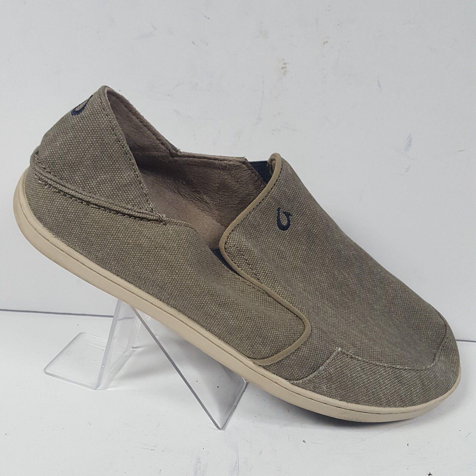 Olukai Nohea Lole Clay Trench Blue Slip On Shoes 10346-10DE Mens Size 10.5