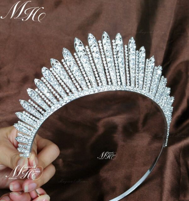 Sparkle Wedding Bridal Tiara Crown Diamante Crystal Pageant Prom Party Headpiece