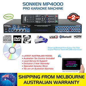 PRO-MP4000-KARAOKE-MACHINE-CD-G-DVD-MP3-G-BLUETOOTH-AV-RCA-HDMI-SONGBOOK-LOCAL