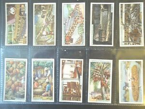 1928-PRODUCTS-OF-THE-WORLD-diamonds-gold-ivory-set-50-cards-Tobacco-Cigarette