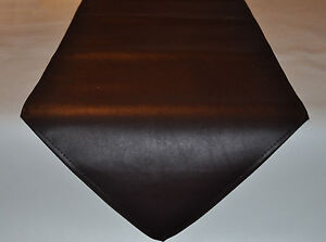 Image Is Loading Brown Faux Leather Table Runner 33cm Wide 1