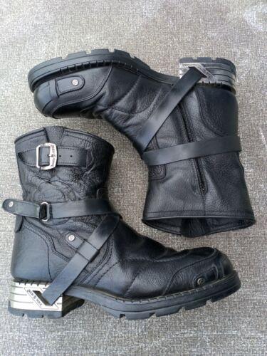New Rock Spain Men's 43 EU Black Leather Biiker Mo