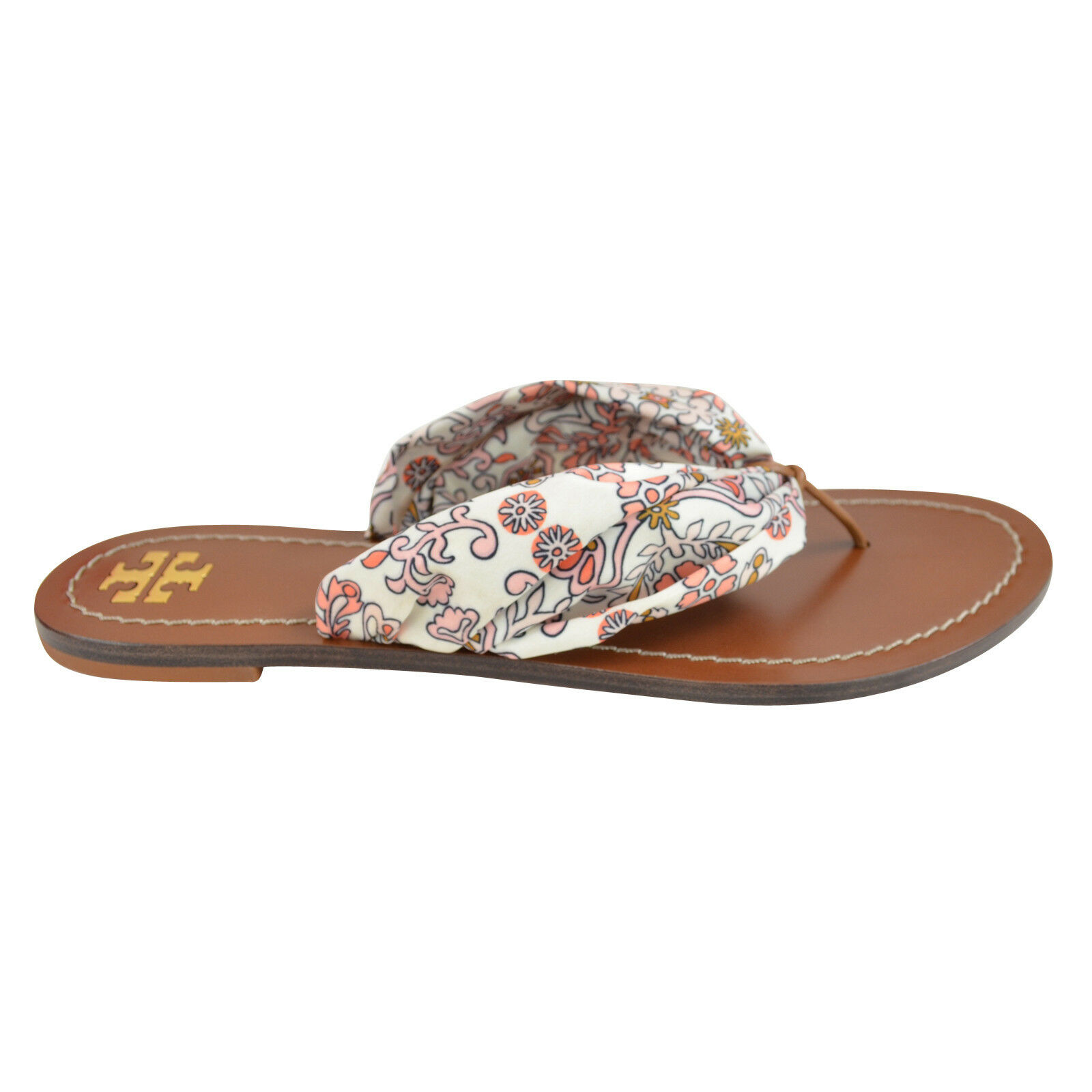 NEW Tory Burch Hicks Garden Carson Scarf Flip Flops Flops Flops Thong Sandals 6-9 bb99db