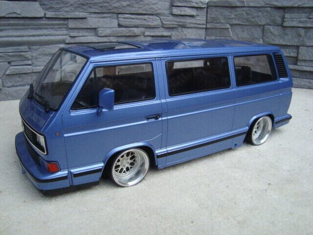 1 18 VW T3 Multivan Blaustar mit 18 Zoll VW BBS Echt Alu Felgen Tiefer Tuning