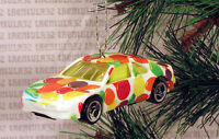 Ford T-bird Thunderbird Stock Race Car Racing White Christmas Ornament Xmas
