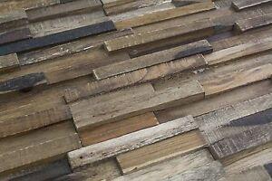 ... Wandverkleidung Holz Wandgestaltung  Teakholz Wandpaneele Paneele Teak HWV22NR