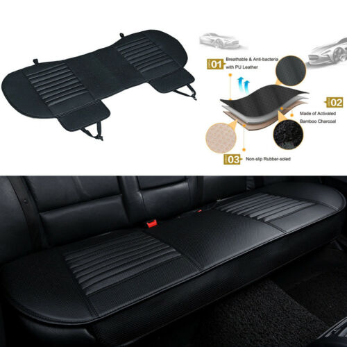 Leather Bamboo Charcoal Design Back Rear Car Seat Cover Universal Fit Protectors